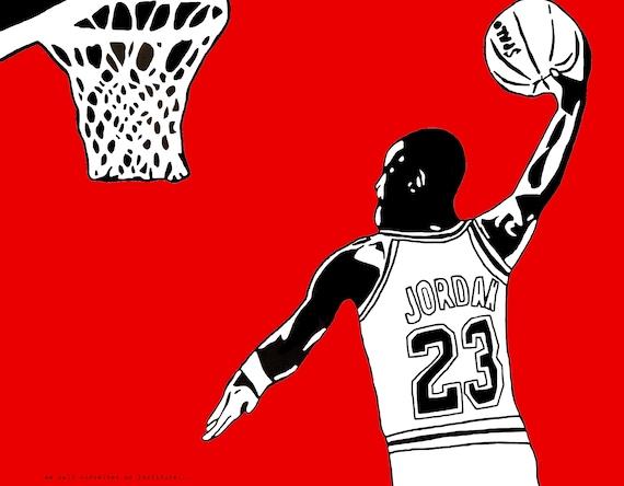 b1efed6ce7b Michael Jordan Art Print UNC Tarheels Chicago Bulls Air   Etsy