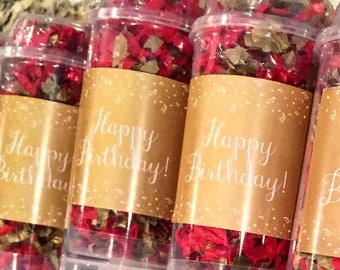 Set of 5 - Happy Birthday Confetti Poppers -  Party Favors