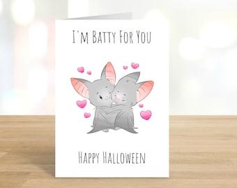 Printable / I'm Batty For You  Happy Halloween Card / Funny Halloween Card / Funny Halloween / Halloween / Halloween Card / DIGITAL DOWNLOAD