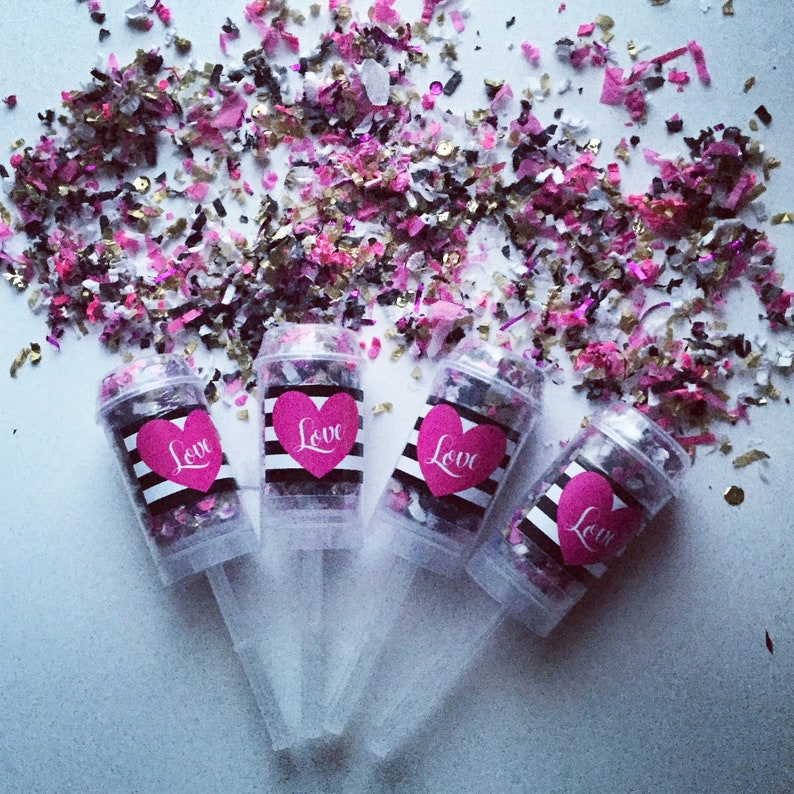 KATE SPADE  L O V E Confetti Poppers / Party Favors / Party image 0