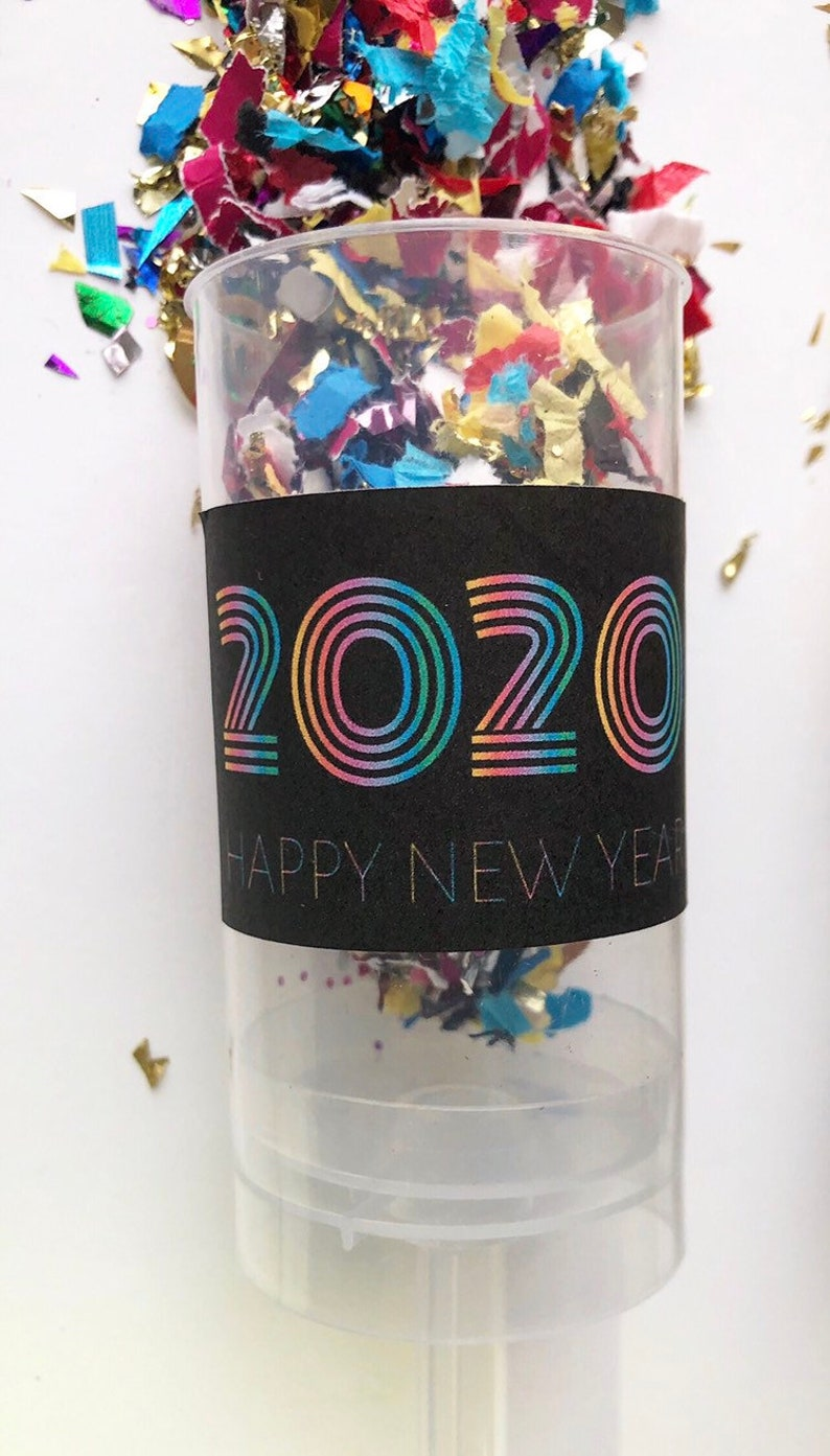 FUTURISTIC  Colorful  2020 New Year Confetti Poppers / Party image 0