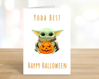 Printable Yoda Best / Halloween Card / Yoda / Funny Halloween / Halloween / Halloween Card / Star Wars / Happy Halloween / DIGITAL DOWNLOAD