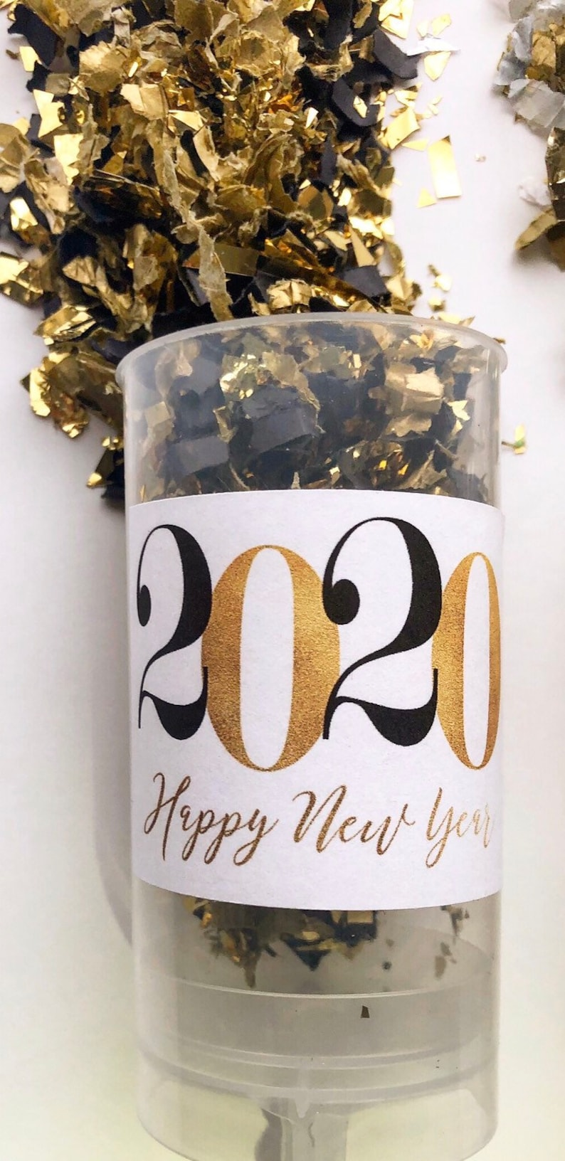 NEW DECADE  White  2020 New Year Confetti Poppers / Party image 0
