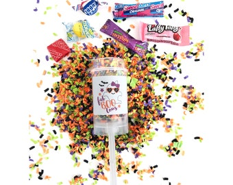 Halloween Candy / Confetti Poppers / Dinosaur / Halloween Confetti Push Pops / Halloween Party Favors / Trick Or Treat / Halloween /  Candy
