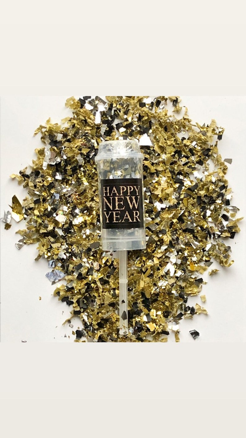 HAPPY NEW YEAR Confetti Poppers / Party Favors / New image 0