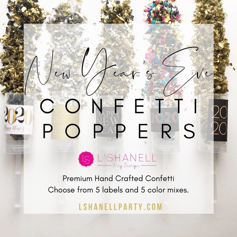 2020 New Year's Eve Confetti Poppers / Party Favors / New image 0