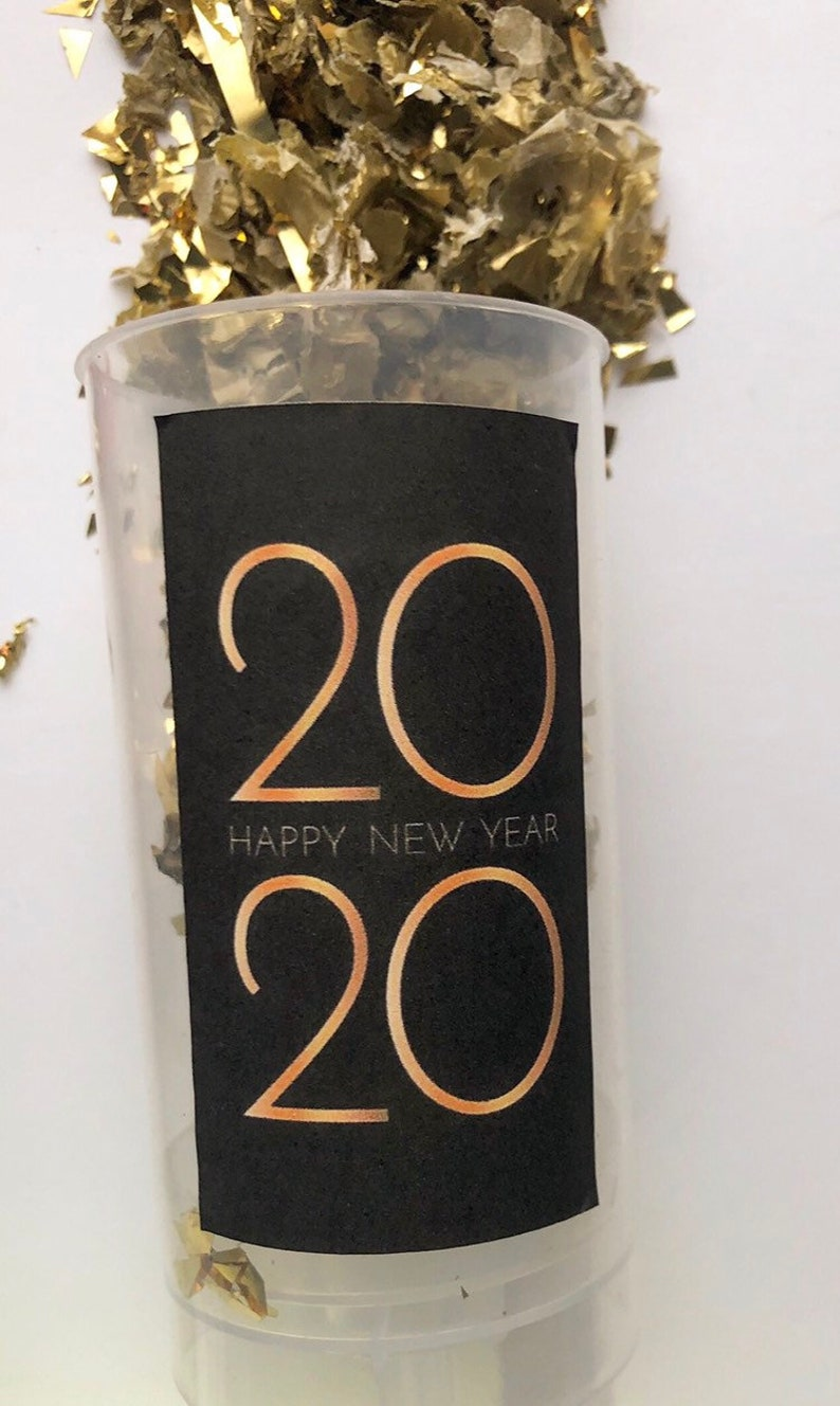 CLASSIC  Black & Gold  2020 New Year Confetti Poppers / image 0