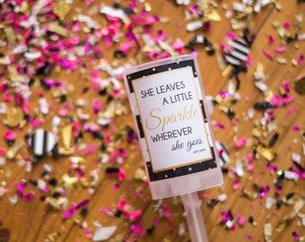 Kate Spade / Confetti Popper / She Leaves A Little Sparkle / Party Favors / Party Poppers / Confetti Push Pop / Birthday Confetti / Birthday