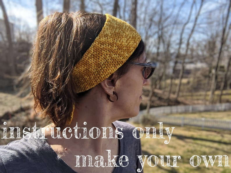 INSTRUCTIONS ONLY  Crochet your own River Town Headband image 0