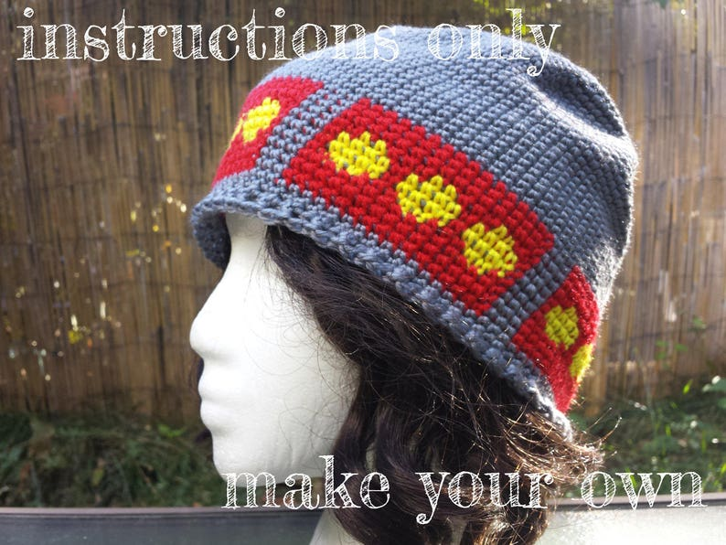 INSTRUCTIONS ONLY  Crochet your own Freetown Christiania Flag image 0