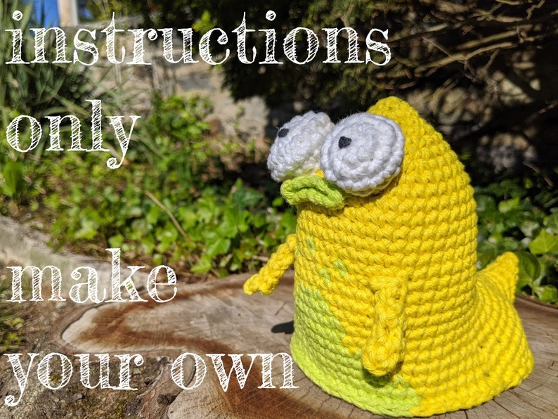 INSTRUCTIONS ONLY  Crochet your own Pupa from Solar Opposites image 0