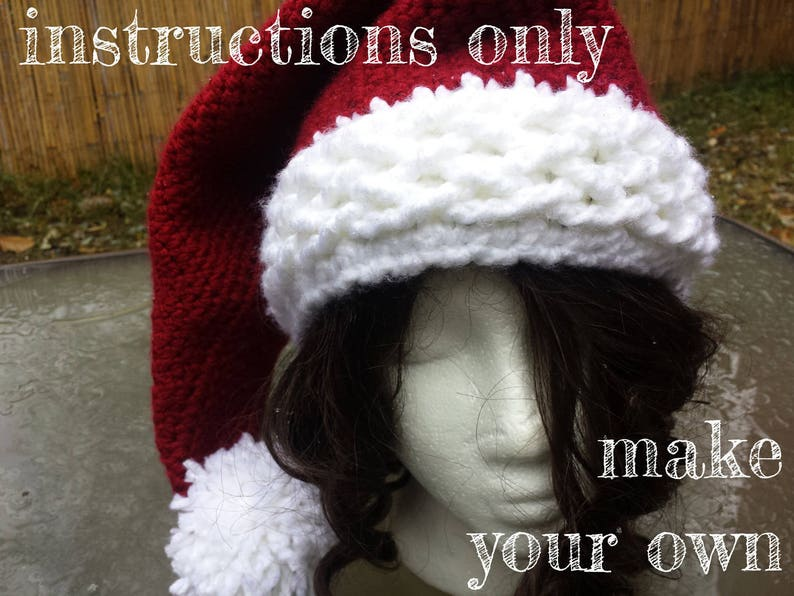 INSTRUCTIONS ONLY  Crochet your own Bulky Cables Santa Claus image 0