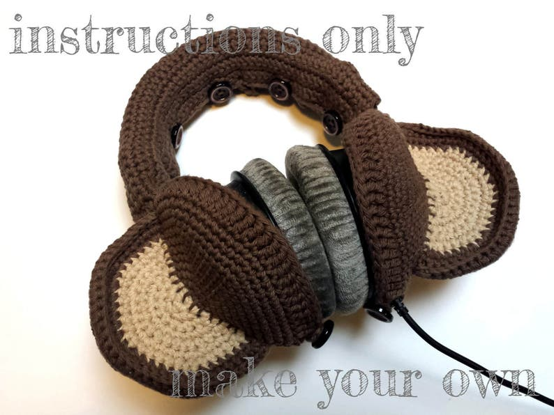 INSTRUCTIONS ONLY  Crochet your own Monkey Ears Cotton image 0
