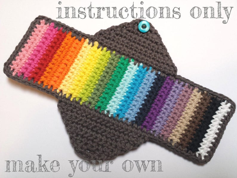 INSTRUCTIONS ONLY  Crochet your own Cotton Feminine Sanitary image 0