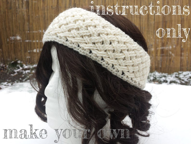INSTRUCTIONS ONLY  Crochet your own Braided Woven Cables Wide image 0