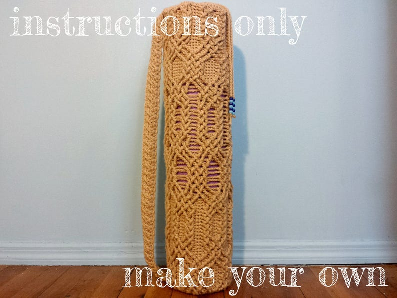 INSTRUCTIONS ONLY  Crochet your own Cables Sampler Yoga Mat image 0
