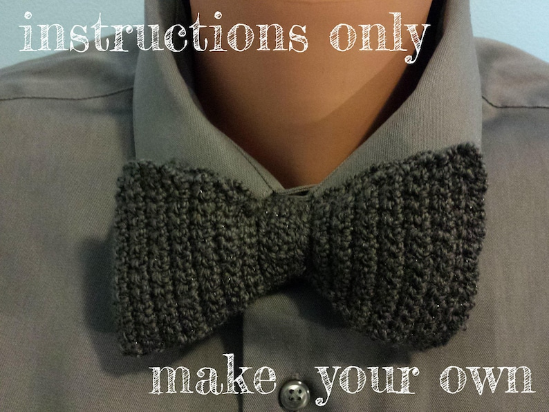 INSTRUCTIONS ONLY  Crochet your own Simple Full-Length Bow image 0
