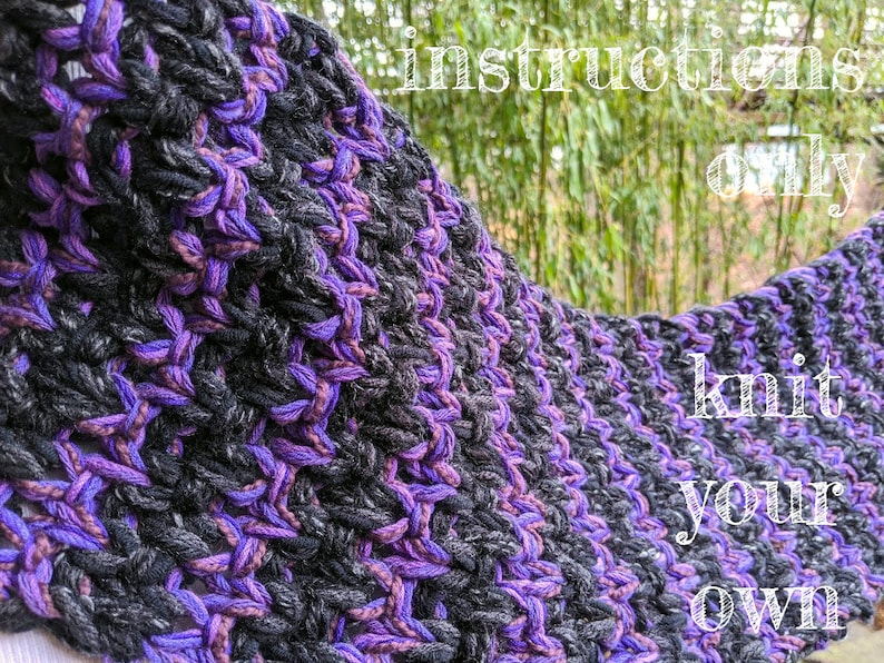 INSTRUCTIONS ONLY  KNIT your own Marl-velous Marled Chunky image 0