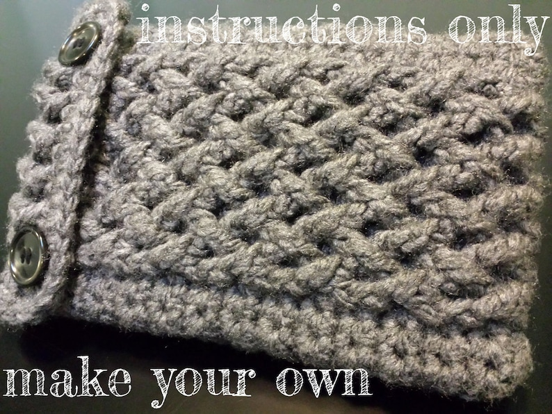 INSTRUCTIONS ONLY  Crochet your own Cabled Kindle Nook Kobo image 0