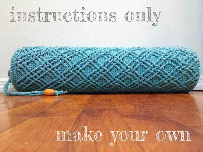 INSTRUCTIONS ONLY  Crochet your own Woven Cables Cotton Yoga image 0