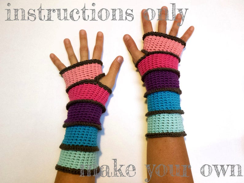 INSTRUCTIONS ONLY  Crochet your own Segmented Mitts cozy image 0