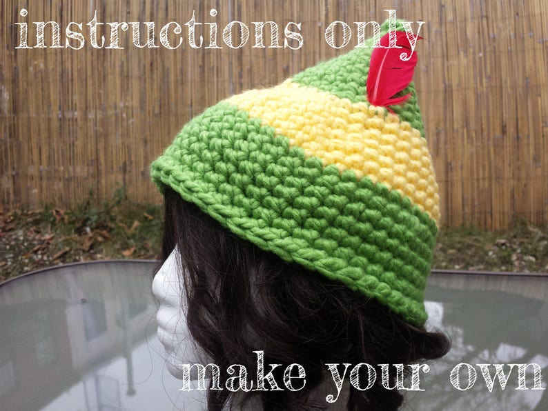 INSTRUCTIONS ONLY  Crochet your own Easy Buddy the Elf image 0