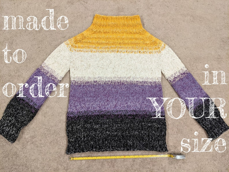 MADE TO ORDER  Customize your own Enby Nonbinary Knit Sweater image 0