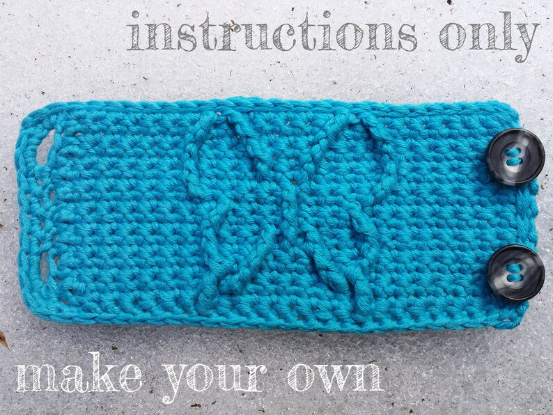 INSTRUCTIONS ONLY  Crochet your own Butterfly Cables Cuff image 0