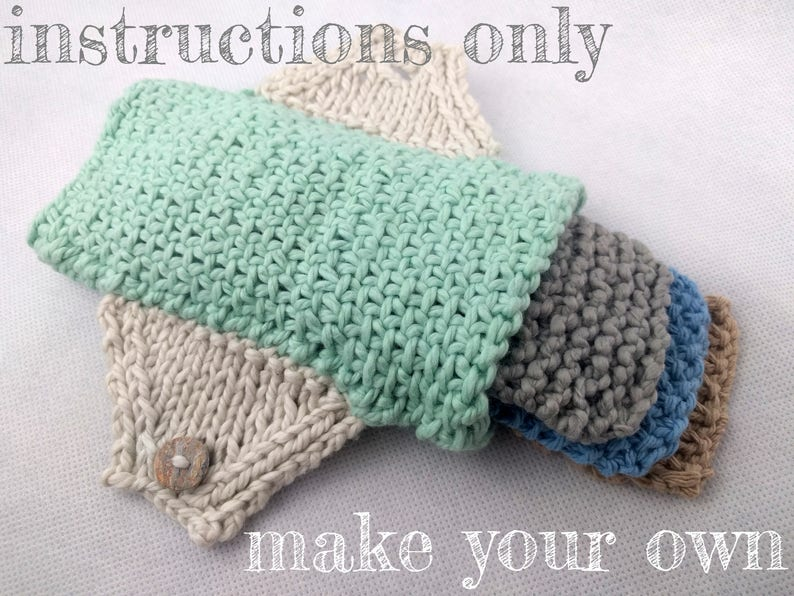 INSTRUCTIONS ONLY  Knit your own Feminine Pad With Inserts image 0