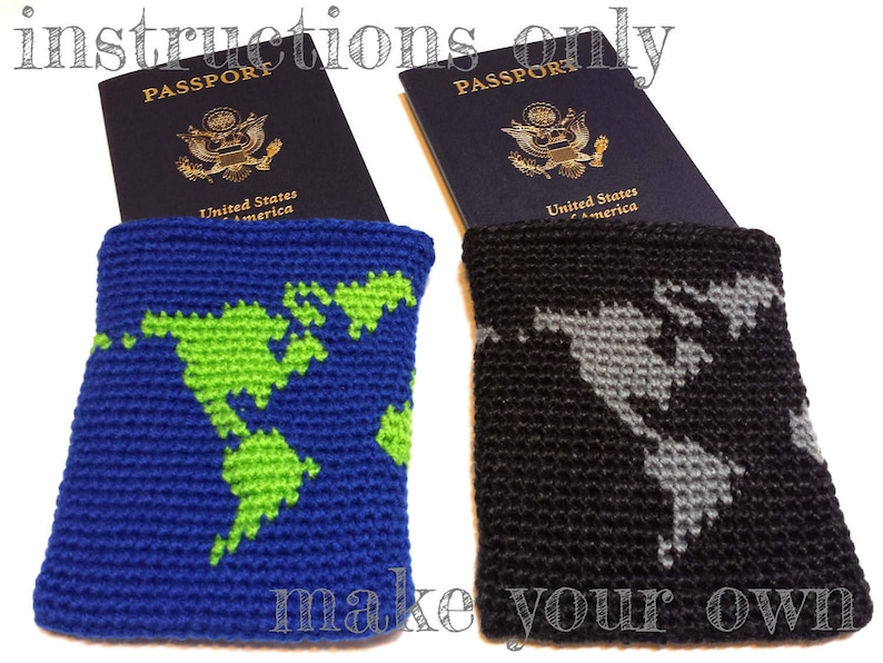 INSTRUCTIONS ONLY  Crochet your own World Map Crochet image 0