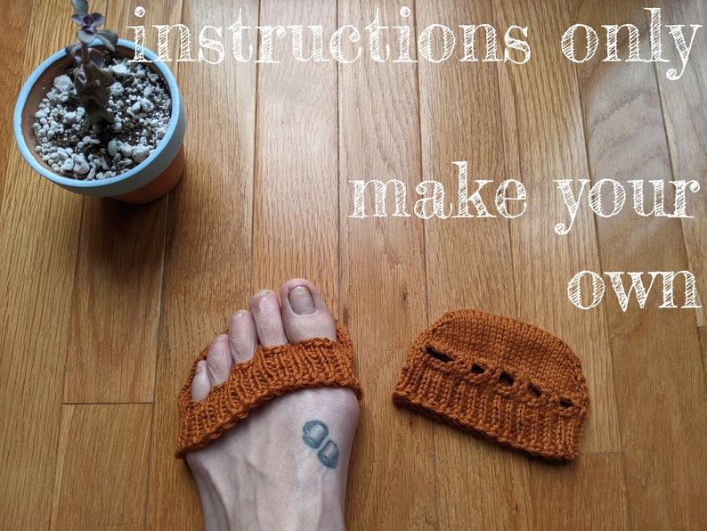 INSTRUCTIONS ONLY  Knit your own Comfy Toe Spacers Toeless image 0