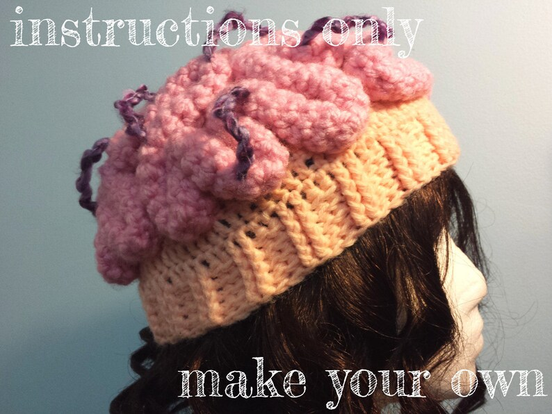 INSTRUCTIONS ONLY  Crochet your own Brainstorm Thinking Cap image 0