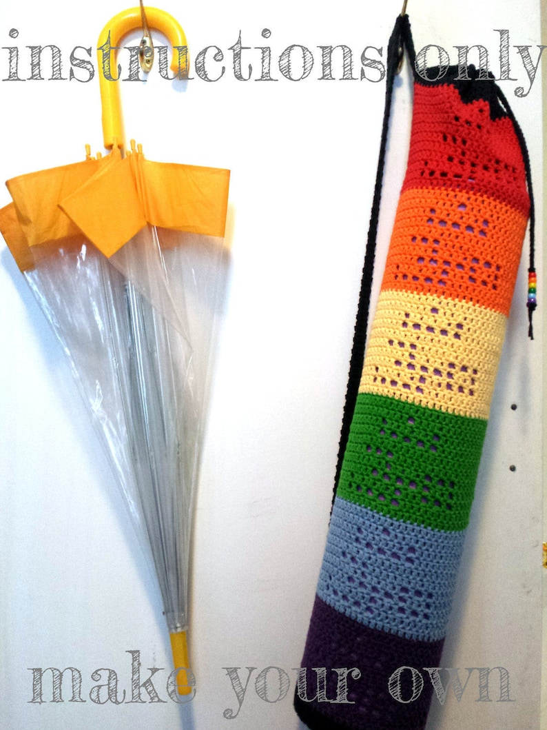 INSTRUCTIONS ONLY  Crochet your own Om Rainbow Yoga Mat Bag image 0