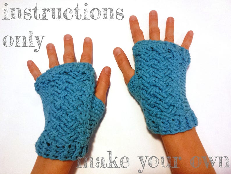 INSTRUCTIONS ONLY  Crochet your own Braided Woven Cables image 0