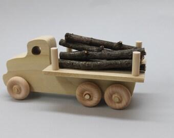 Logging truck, solid hardwood