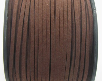 3mm flat faux suede leather cord,camel,3X1.5mm,1-5yards