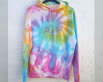 9e27c56d468c5d Pastel Tie Dye Hoodie Rainbow Unisex ALL SIZES