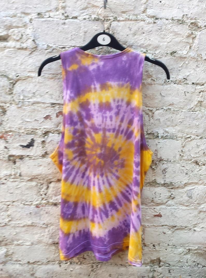 Tank Top Spiral Tie Dye Yellow /& Purple ALL SIZES