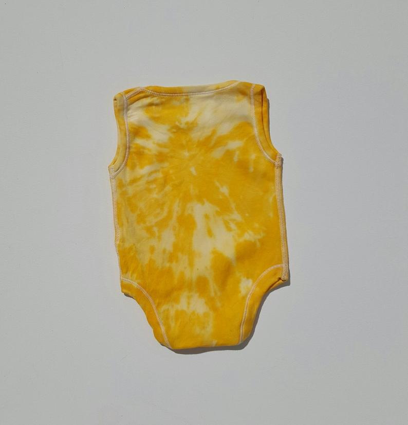 Yellow Baby Tie Dye Bodysuit ALL SIZES