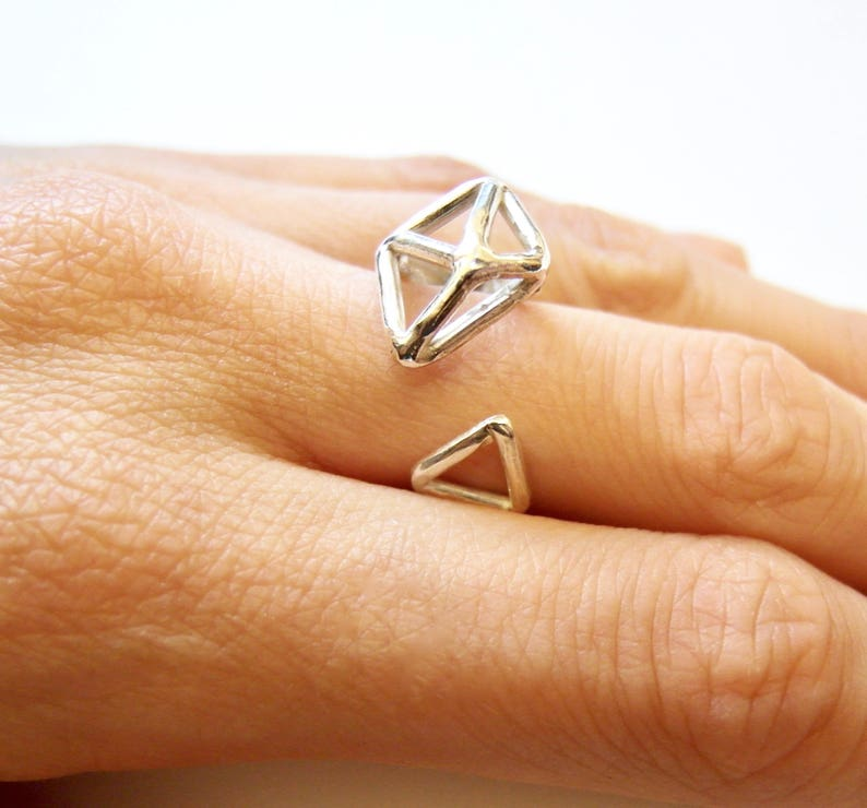 Handmade Jewelry Sterling Silver Ring Silver Jewelry Adjustable Ring Handmade Ring Sterling Silver Adjustable Geometric Ring
