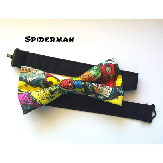 Spiderman Superhero Bow Tie
