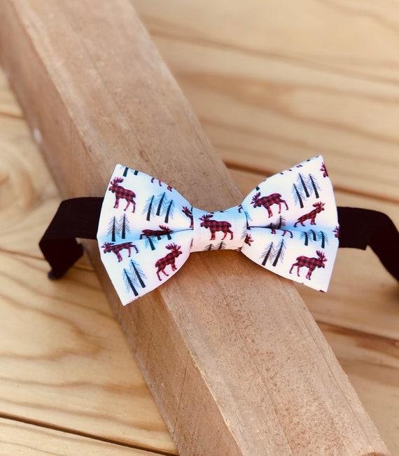 Lumberjack Moose Bow Tie