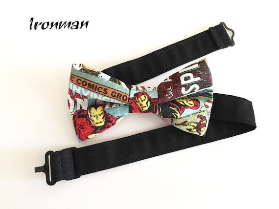 Iron Man Superhero Bow Tie