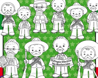 60 Off Mexican Revolution Day Clipart México Clipart School Etsy