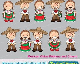 60 Desc Clipart Trajes Mexicanos China Poblana Y Charro En