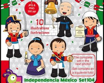60 Desc Clipart Independencia De México Blanco Y Negro Etsy