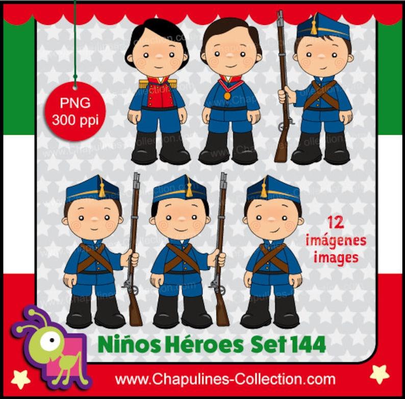60 Desc Niños Héroes Clipart Imágenes De Cuerpo Completo Ilustraciones Escuela Imágenes México Set 144