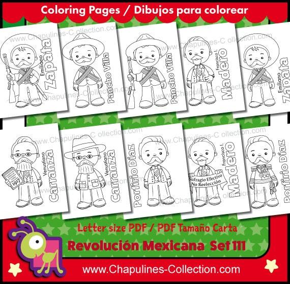 60 De Desc Revolución Mexicana Clipart En Blanco Y Negro Y Dibujos Para Colorear Imágenes México Ilustraciones Set 111