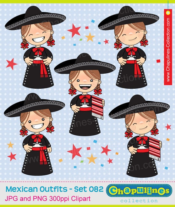 charra with red bow tie set 081 mexican traditional costumes mexican suit girls illustrations 60/% off Clipart girls with charro suit