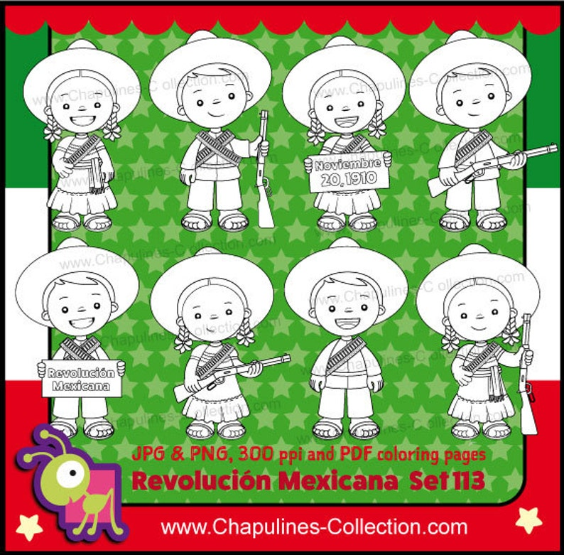 60 Off Mexican Revolution Day Clipart Black And White Etsy